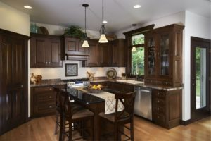 Dark Wood Kitchen Remodel